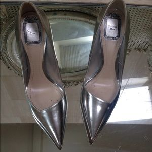 Christian Dior Silver Metallic Pumps 39